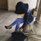 Jeans i kapelusz