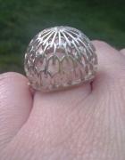 stary srebrny pierścionek dmuchawiec warmet