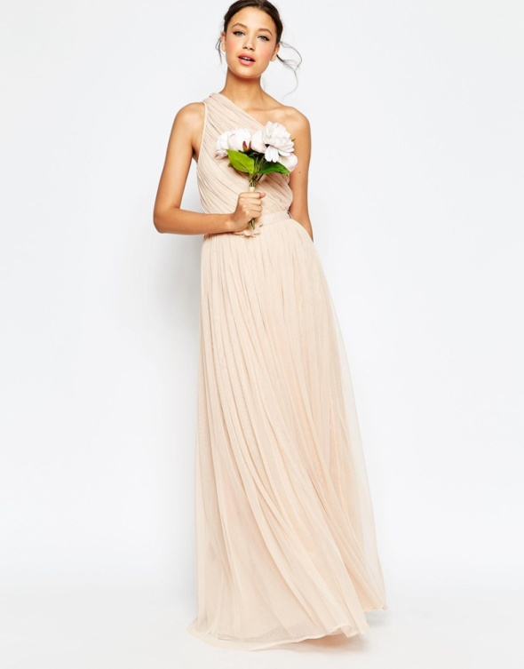57436fdd Asos max pudrowa suknia tiulowa 36 s w Suknie i sukienki - Szafa.pl