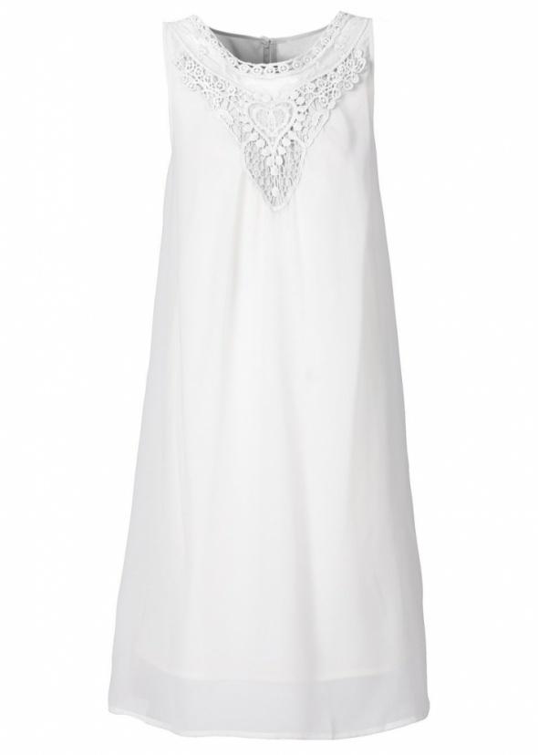 Biała sukienka z koronką Bodyflirt w Suknie i sukienki