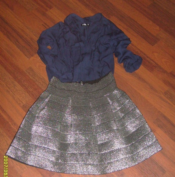 Spódnice zjawiskowa srebrna
