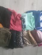 Zestaw ubrań 16 sztuk bluzki spodnie spódniczki...
