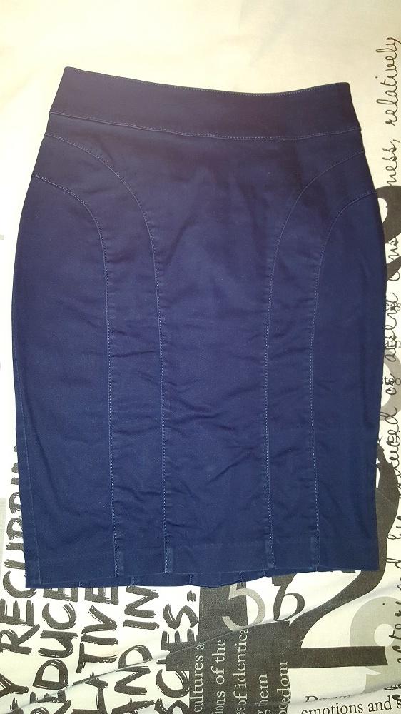 Spódnice Granatowa ołówkowa H&M 34 XS