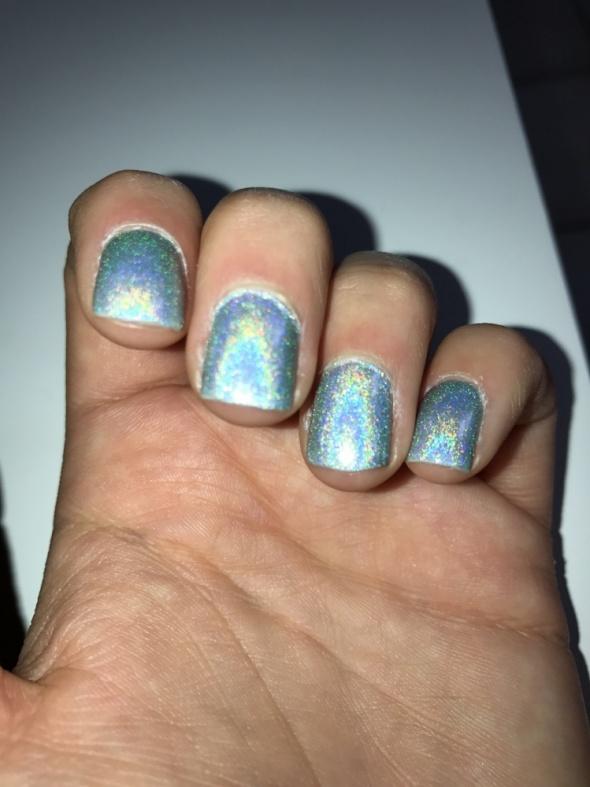 naturalne cholograficzne paznokcie polish nails