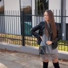 Over the Knee Boots & Leather Jacket