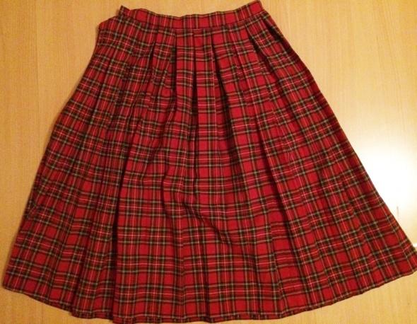 Spódnice Plisowana spódnica vintage w szkocką kratę