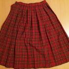 Plisowana spódnica vintage w szkocką kratę