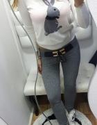 Ocieplane spodnie z ozdobnym przodem