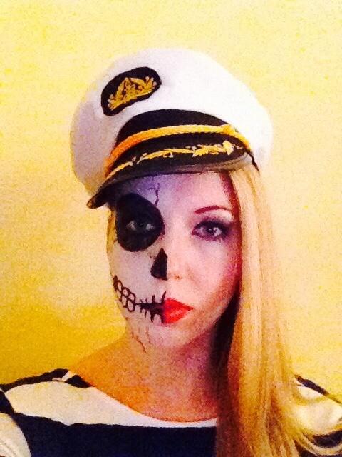 Makijaże Creepy Captain