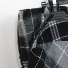 wełniana wełna spódnica w kratę gruba ciepła krata