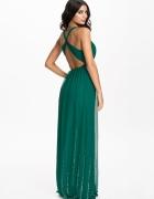 Asos sukienka maxi butelkowa zieleń