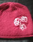 śliczna czapka dla dziewczynki...
