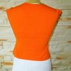 Pomarańczowa haftowana bluzka na lato M