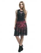 Sukienka Krwawe róże plus rękawki gothicana