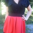 Nowa czerwona spódnica piankowa rozkloszowana koro