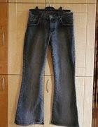 Spodnie Czarne Jeansowe Dzwony