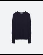 Sweter Zara Basic złote guziki...