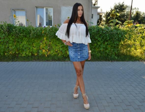 Blogerek jeansowa spodnica