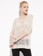 Reserved ażurowy sweter pudrowy róż zara blog