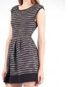 Sukienka STRADIVARIUS w szare paski...