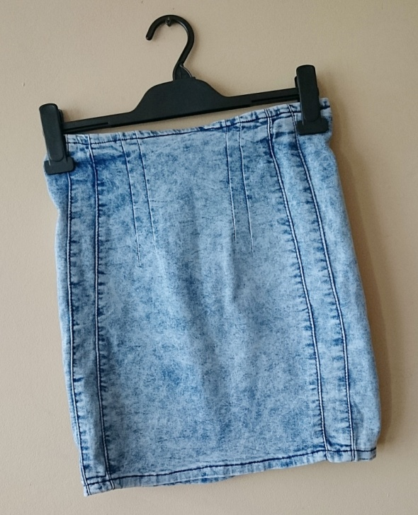 Spódnice mini jeansowa spódnica wysoki stan marmurkowa