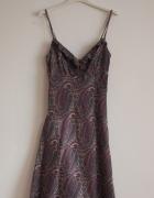 Fioletowa sukienka we wzory Reserved XS