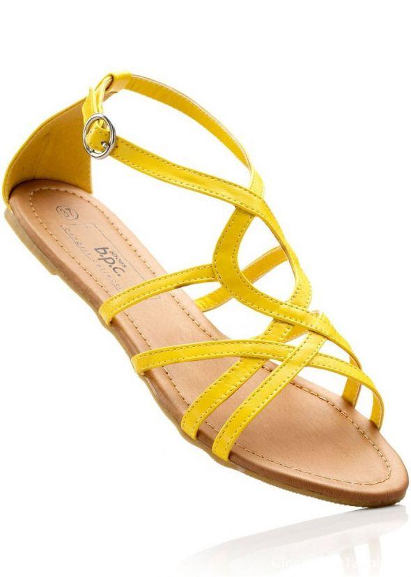 38 ŻÓŁTE SANDAŁY BON PRIX sandałki na lato