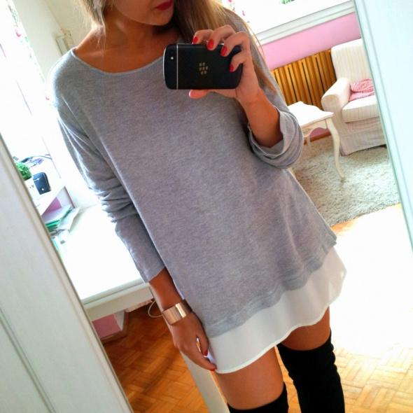 Mój styl sweter z koszulą