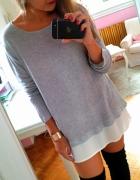 sweter z koszulą