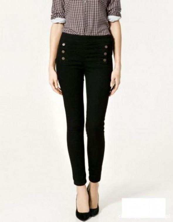 Ubrania Tregginsy spodnie stradivarius guziki czarne xs