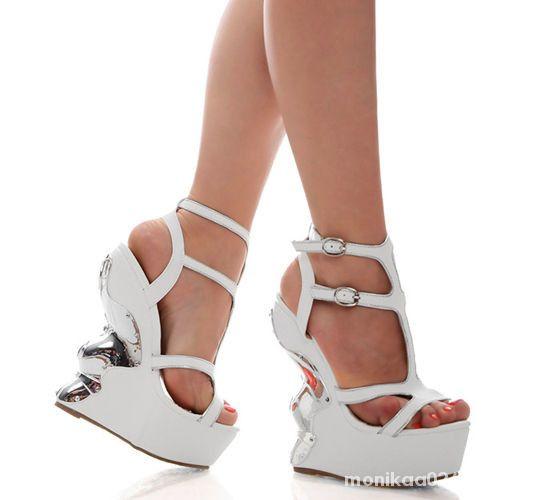 ec79faff282bf buty sandały mega koturny białe rozmiar 38 w Koturny - Szafa.pl