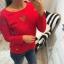 czerwona bluza serduszka