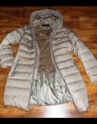 Świetny puchowy płaszcz 44
