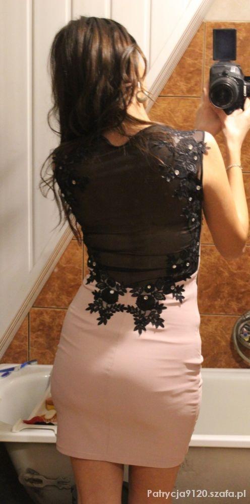 sukienka z siatką