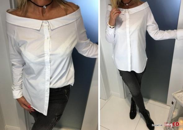 długa biała koszula