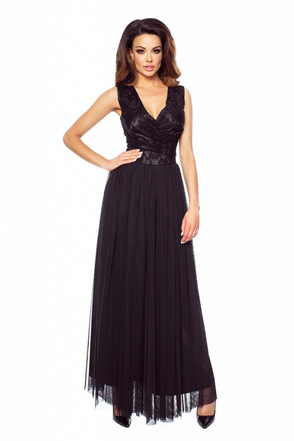 2d0ca41cf9 Suknie i sukienki BALOWA MAXI SUKIENKA Z TIULU I KORONKI ROZMIAR 44