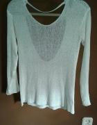 biały sweter h&m xs 34 odkryte plecy