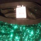 zielona cekinowa spodnica