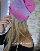 czapka róż ombre