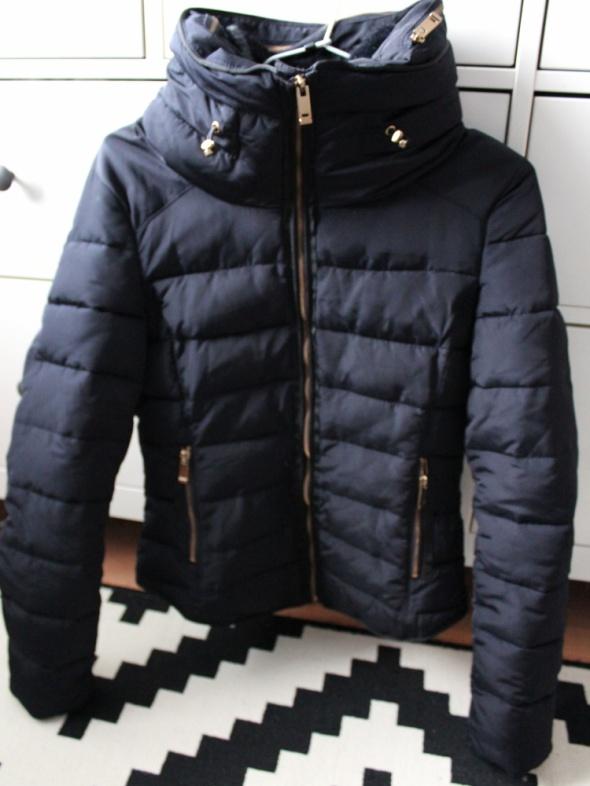 zara basic kurtka z futerkiem czarna m