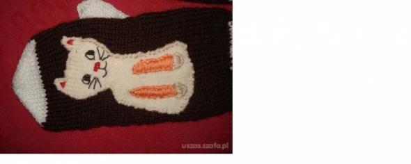 Rękawiczki handmade kotek...
