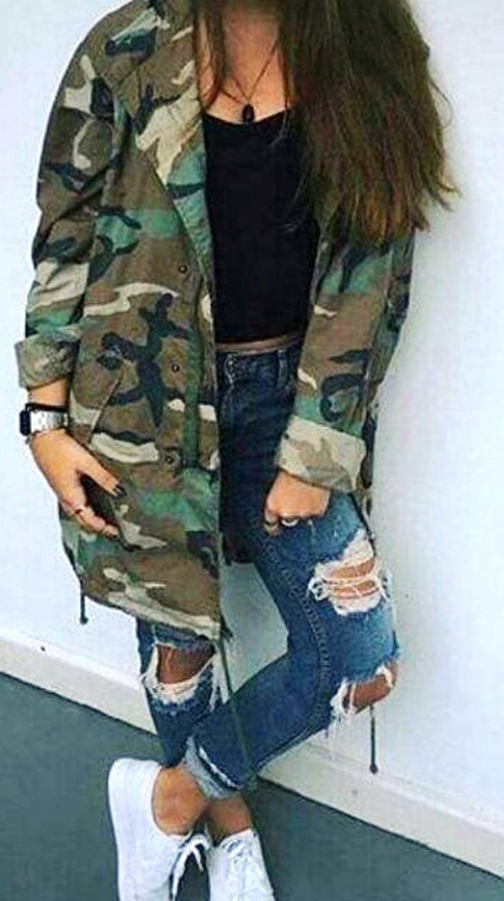 Codzienne moro military & jeans