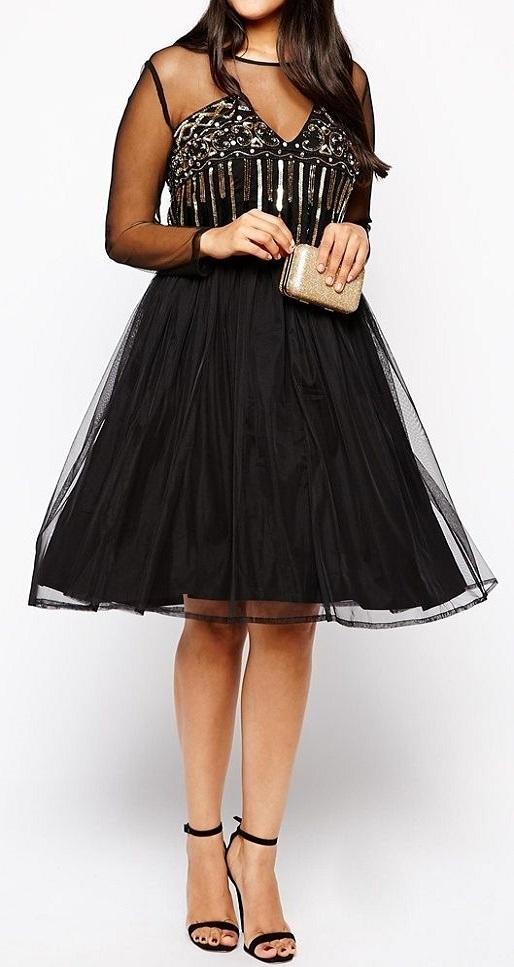 c9b44846fe Sukienka zdobiona Asos 44 46 siateczka koraliki w Suknie i sukienki ...