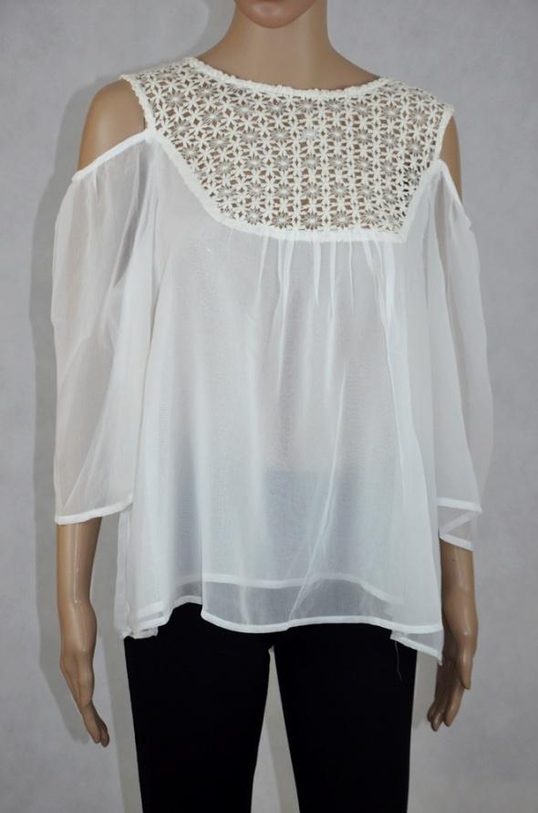Elegancka koronkowa bluzka z szyfonu nowa
