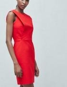 Czerwona sukienka mango z zakładką...