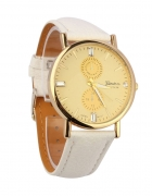 Biały Zegarek Geneva Platinum