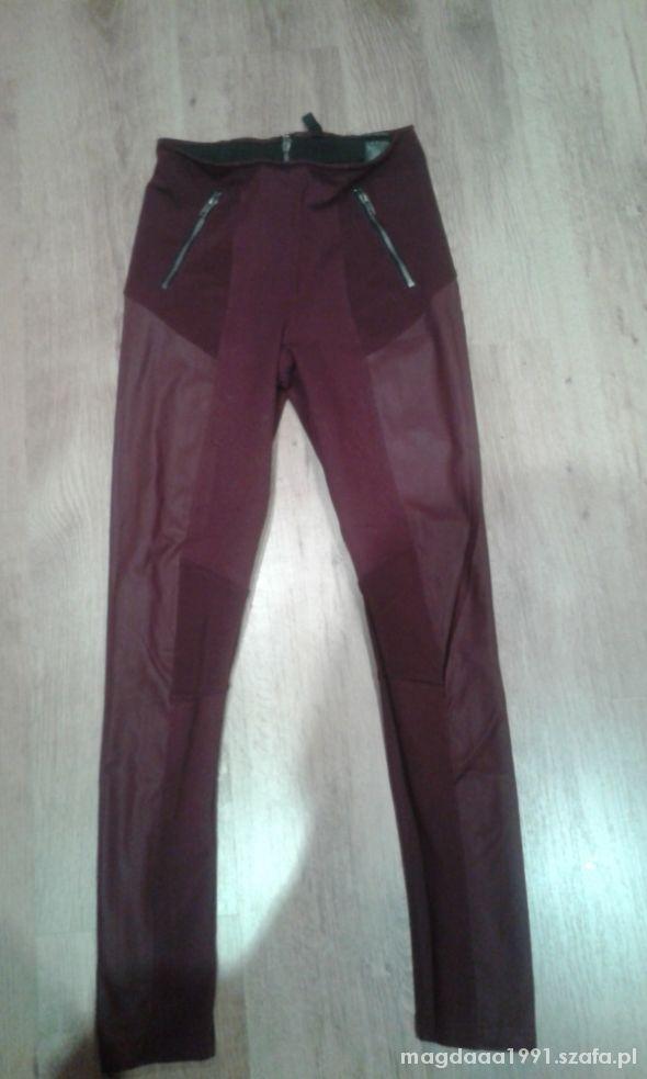 spodnie h&m ze wstawkami ze skóry
