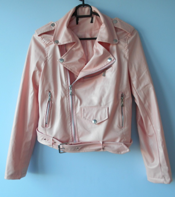 Zara kurtka ramoneska różowa nowa biker skóra w Odzież