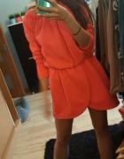 Asos neonowa ciepła sukienka