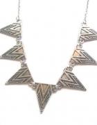 Naszyjnik srebrny zawieszki trójkąty aztecki